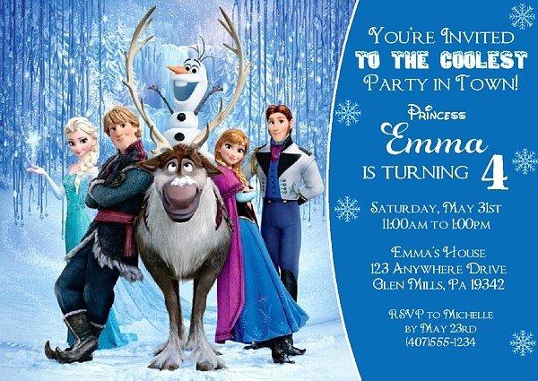 Frozen Bday Party Invites Best Of Frozen Birthday Party Invitations Disney