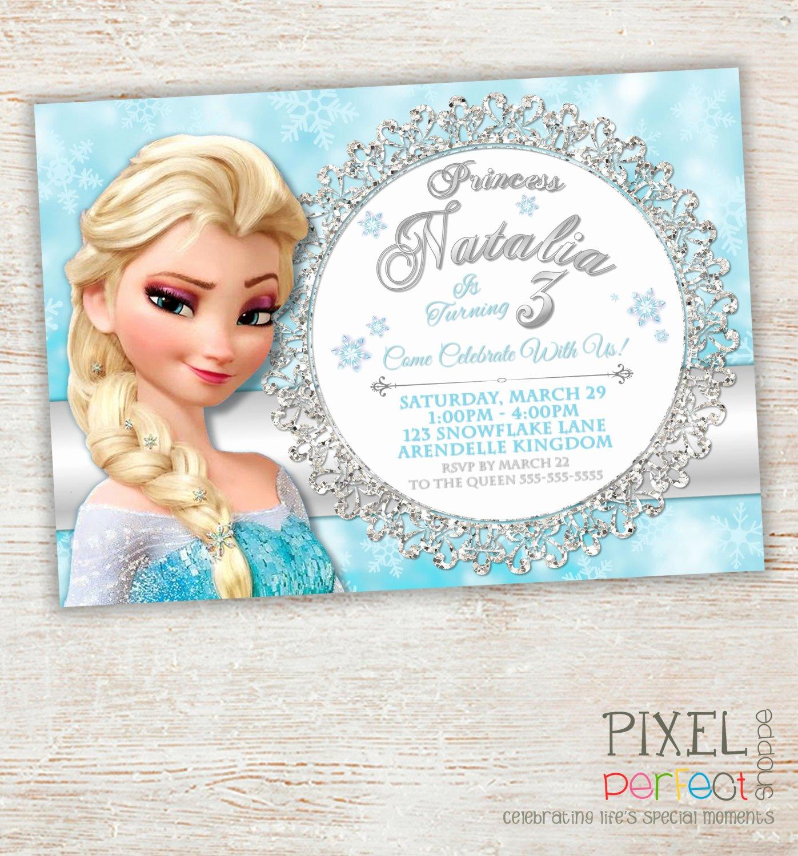 Frozen Bday Party Invites Elegant Frozen Birthday Invitation Frozen Birthday Party Frozen