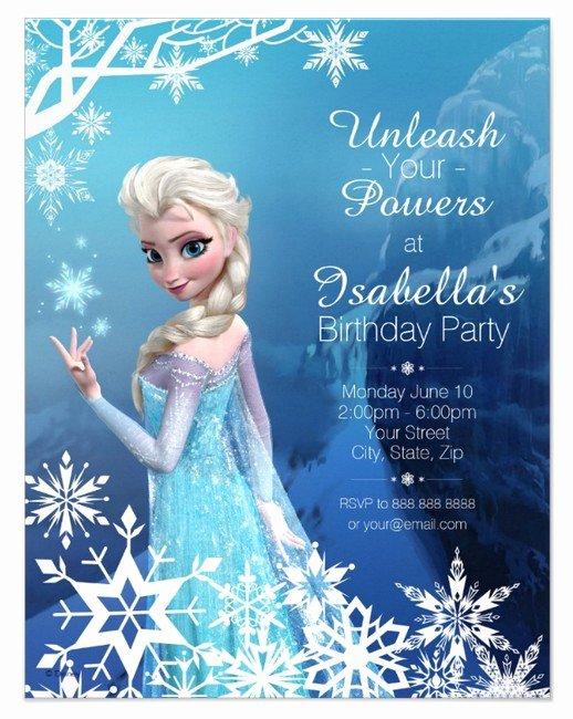 Frozen Bday Party Invites Elegant Frozen Birthday Invitations Elsa whyrll