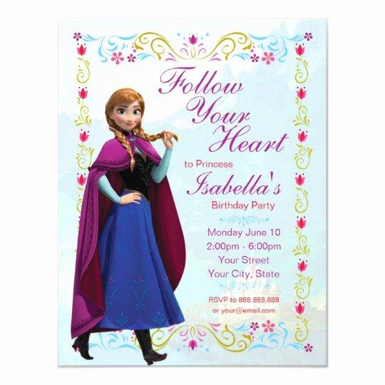 Frozen Bday Party Invites Fresh Frozen Anna Birthday Party Invitation