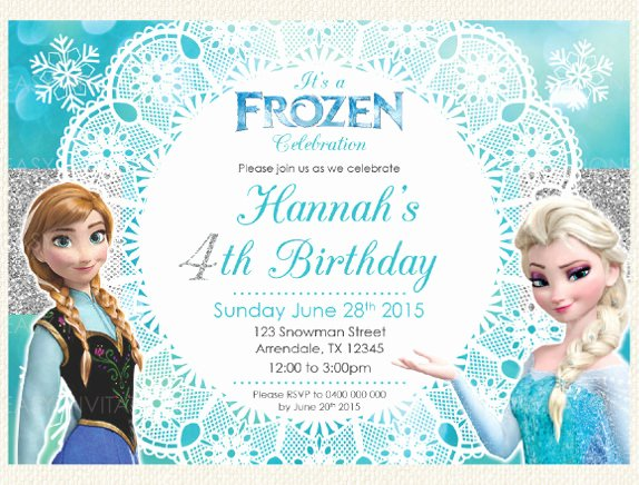 Frozen Bday Party Invites Inspirational 12 Frozen Birthday Invitation Psd Ai Vector Eps