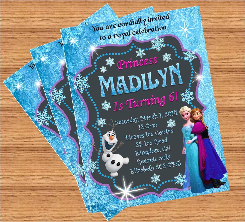 Frozen Bday Party Invites New Frozen Birthday Invitation Custom Invitation