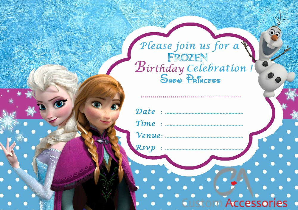 Frozen Birthday Invitations Cards Awesome 20x Frozen Elsa Party Invitations Kids Children S Invites Birthday A5 New