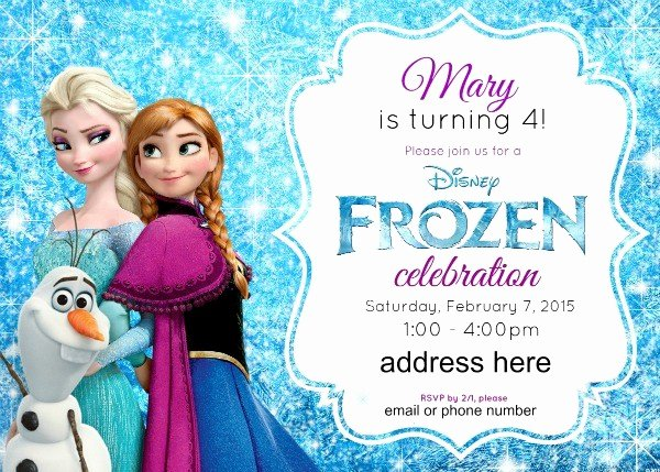 Frozen Birthday Invitations Cards Beautiful Disney S Frozen Birthday Party Ideas Pink Purple Blue & A Jumper too
