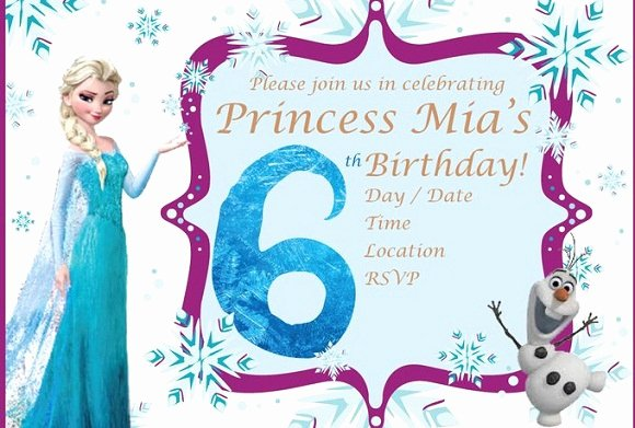 Frozen Birthday Invitations Cards Beautiful Elsa Frozen Birthday Party Invitation Ideas – Free Printable Birthday Invitation Templates
