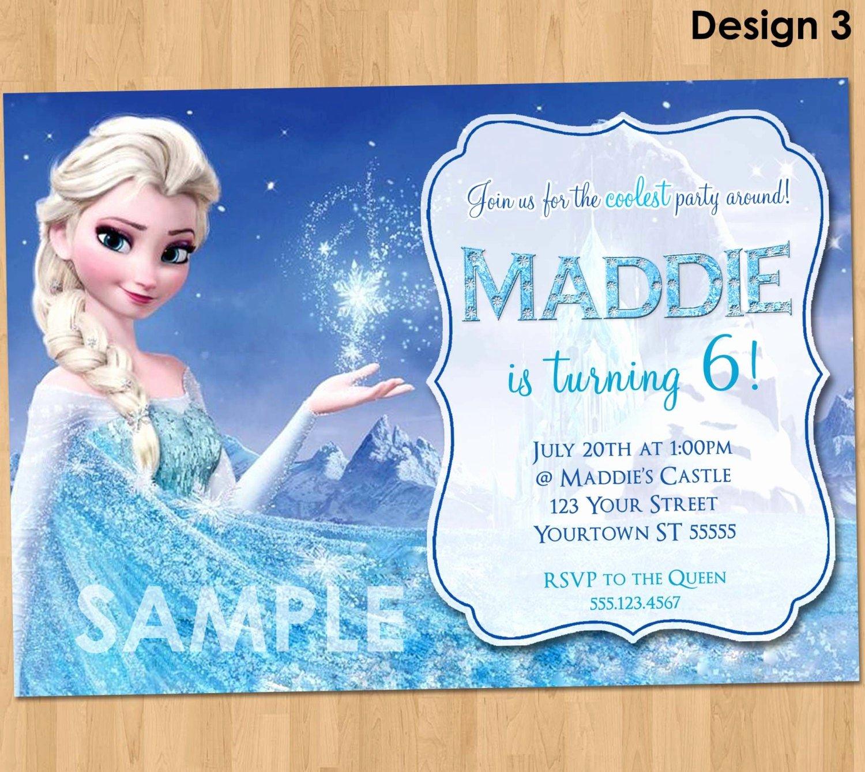 Frozen Birthday Invitations Cards Elegant Frozen Birthday Invitation Elsa Frozen Invitation