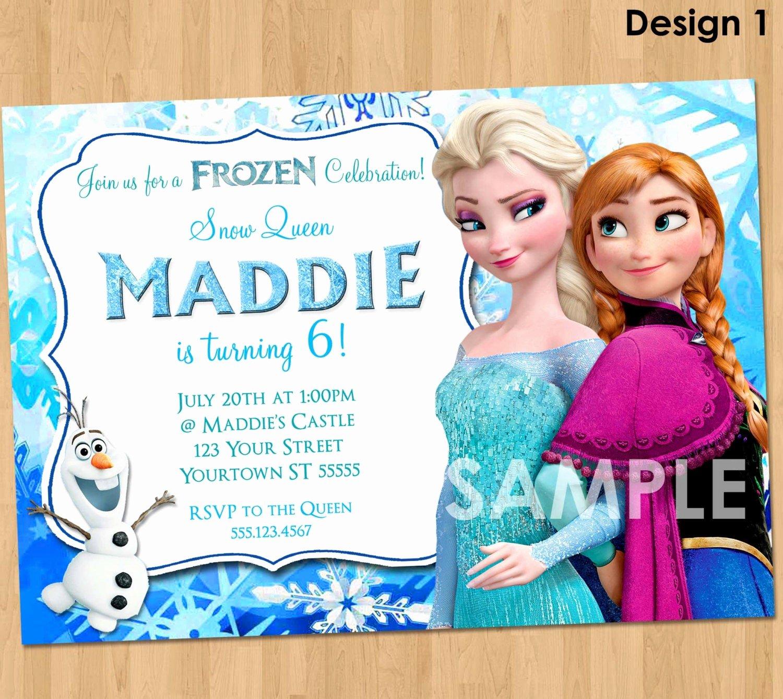 Frozen Birthday Invitations Cards Elegant Frozen Invitation Frozen Birthday Invitation Disney Frozen