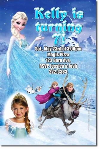 Frozen Birthday Invitations Cards Fresh Frozen the Movie Birthday Party by Uprintinvitations On Zibbet