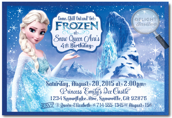 Frozen Birthday Invitations Cards Lovely Frozen Birthday Invitations Printable New Invitations