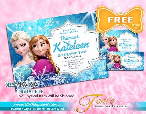 Frozen Birthday Invitations Cards Lovely Frozen Invitation Frozen Birthday Invitation Free Frozen