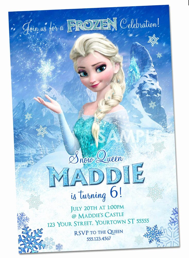 Frozen Birthday Invitations Cards Luxury Disney Frozen Invitations Personalized Frozen Party Invitations Elsa Custom