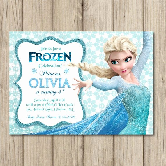 Frozen Birthday Invitations Cards New Frozen Birthday Invitation Elsa Invitation Girl Frozen