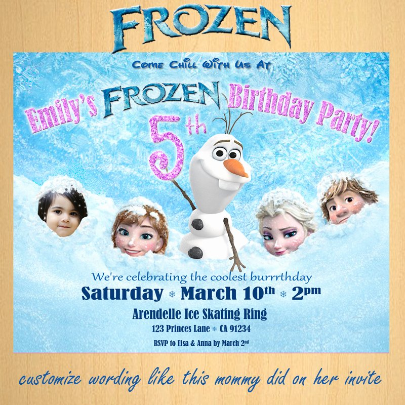 Frozen Birthday Invitations Wording Awesome Frozen Birthday Invitation