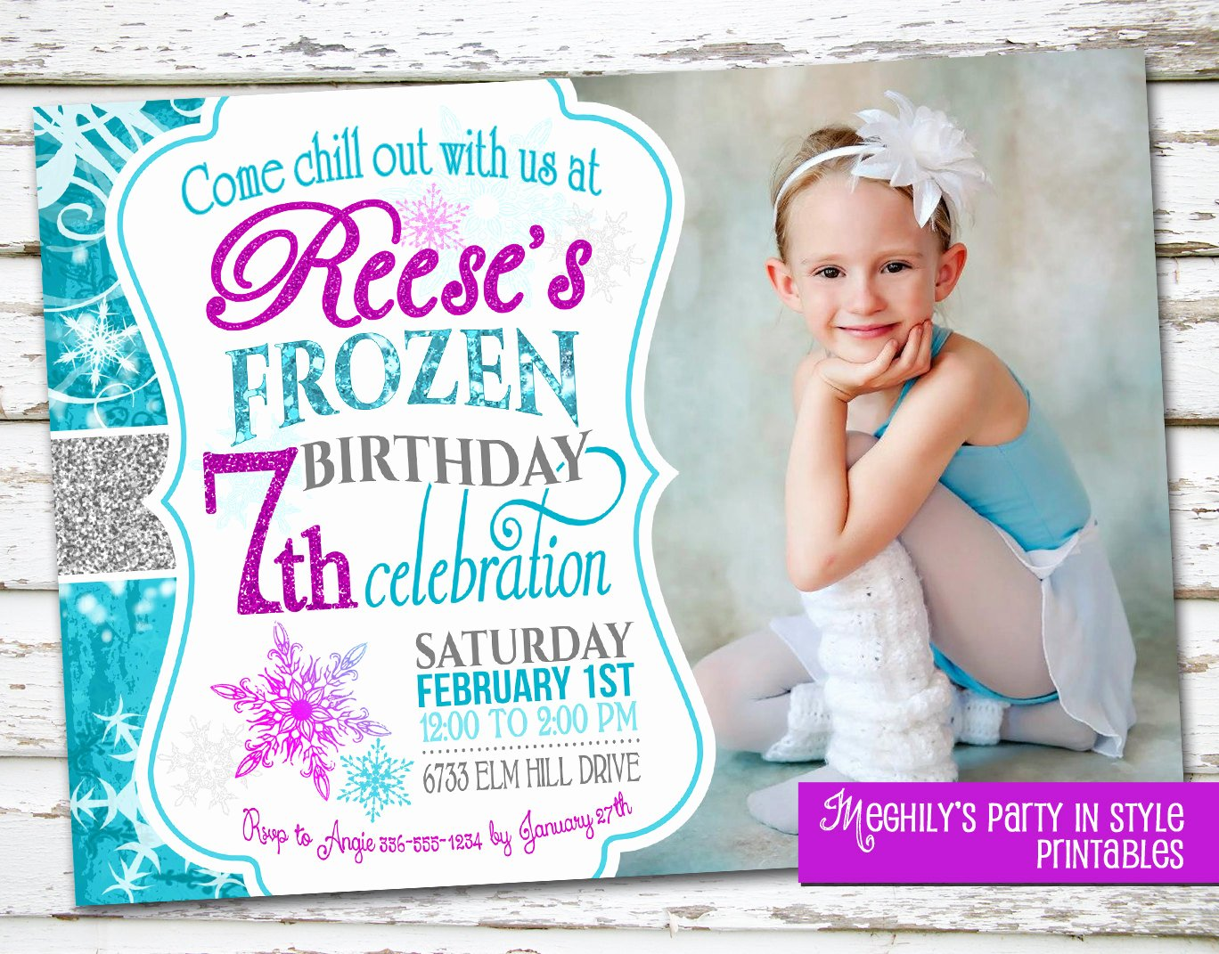Frozen Birthday Invitations Wording Awesome Frozen Birthday Invitation with