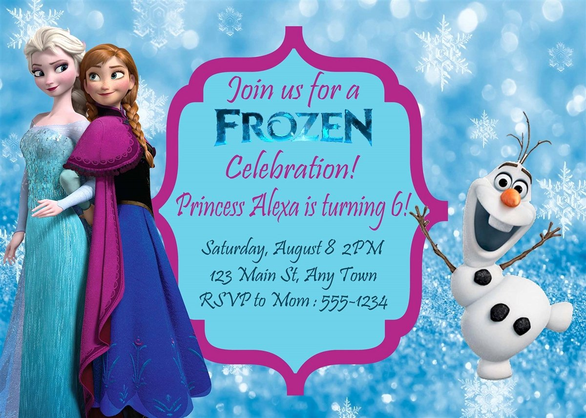 Frozen Birthday Invitations Wording Beautiful Birthday Invitation Frozen theme