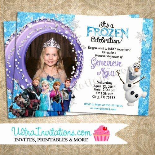 Frozen Birthday Invitations Wording Inspirational Disney Frozen Birthday Invitations