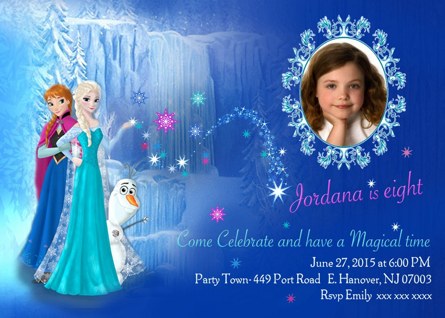 Frozen Birthday Invitations Wording Inspirational Diy Print Frozen Invitations Frozen Birthday Invites Elsa