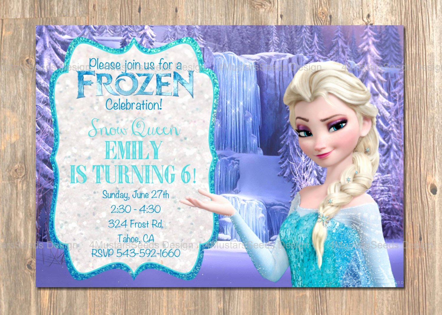 Frozen Birthday Invitations Wording Luxury Frozen Birthday Invitation Elsa Frozen Invitation Printable