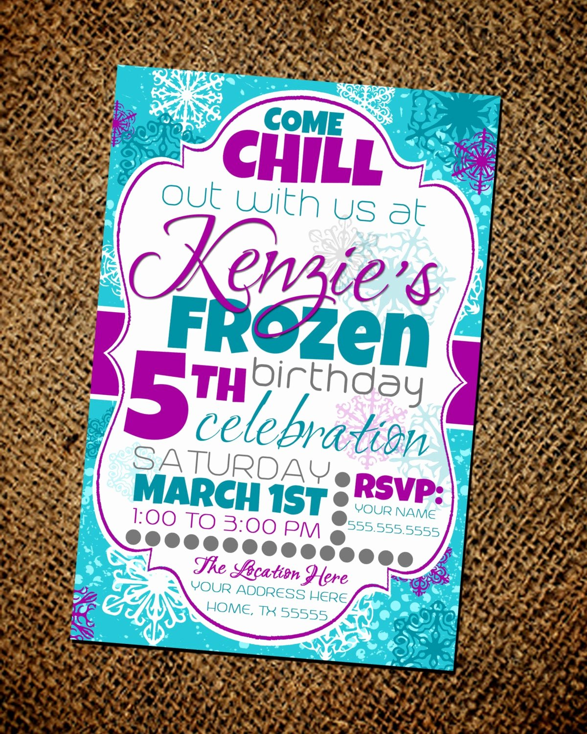 Frozen Birthday Invitations Wording Luxury Frozen Birthday Party Invitation by Miaraecollections On Etsy