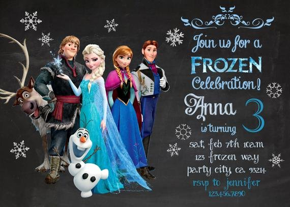 Frozen Birthday Invitations Wording New Frozen Birthday Invitation Disney S Frozen by