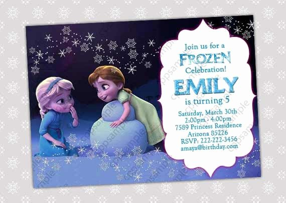 Frozen Birthday Invitations Wording New Items Similar to Frozen Invitation Frozen Birthday
