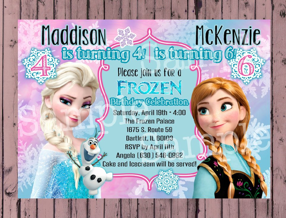 Frozen Birthday Invitations Wording Unique Frozen Invitation Frozen Birthday by Poshpaisleyboutique