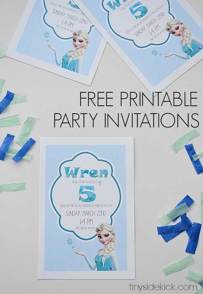 Frozen Birthday Invites Template Awesome Free Printable Frozen Birthday Party Invitations