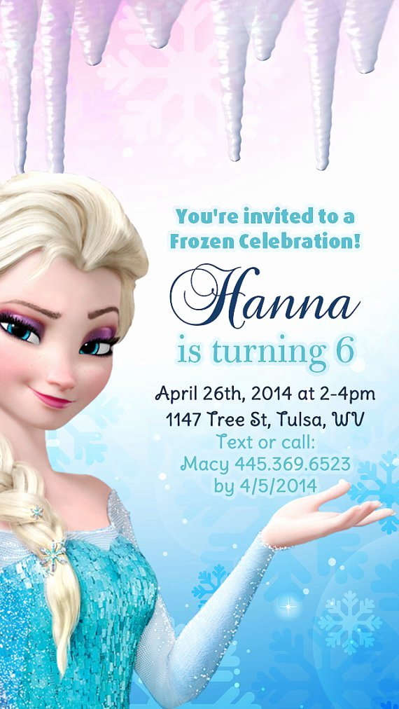 Frozen Birthday Invites Template Beautiful Frozen Birthday Party Invitation Templates