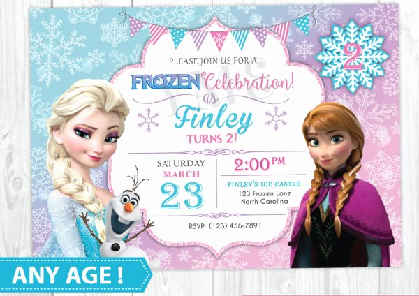 Frozen Birthday Invites Template Best Of 13 Frozen Invitation Templates Word Psd Ai