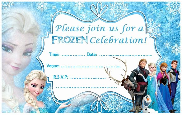 Frozen Birthday Invites Template Best Of 24 Heartwarming Frozen Birthday Invitations