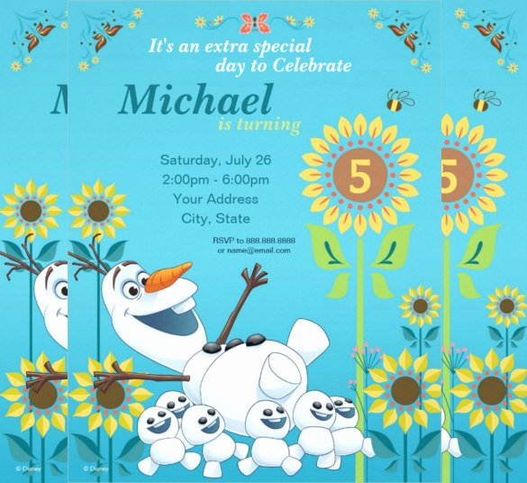 Frozen Birthday Invites Template Elegant 23 Frozen Birthday Invitation Templates Psd Ai Vector Eps