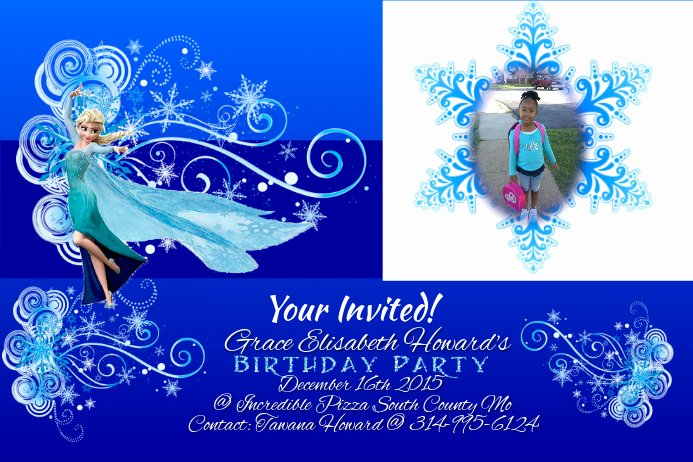 Frozen Birthday Invites Template Fresh Birthday Invites Template