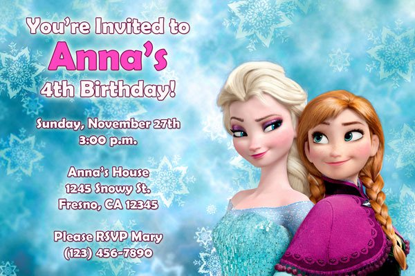 Frozen Birthday Invites Template Fresh Frozen Invitations