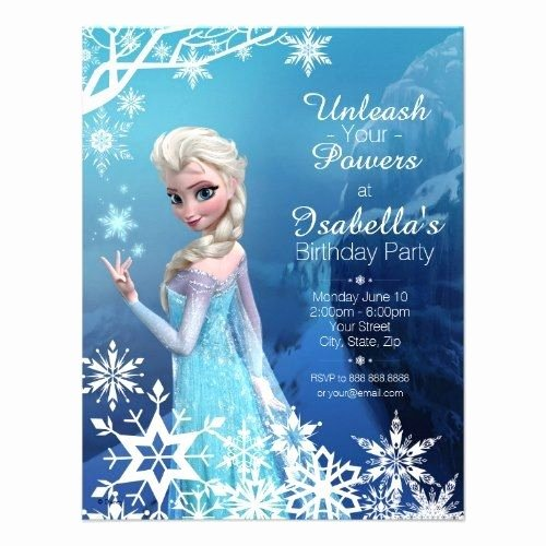 "Frozen Birthday Invites Template Lovely Birthday Party Invitations Templates Disney ""frozen"" themed Birthday Party Invitations"