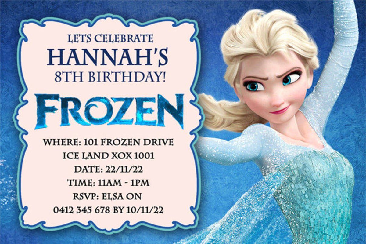 Frozen Birthday Invites Template New Best Selection Of Frozen Personalized Birthday Invitations 2014 2015