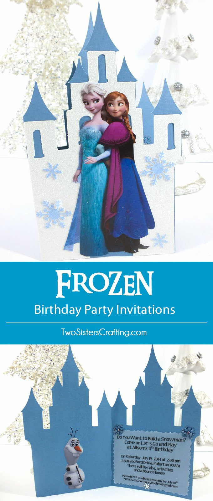 Frozen Birthday Party Invitations Beautiful Frozen Birthday Party Invitations Two Sisters