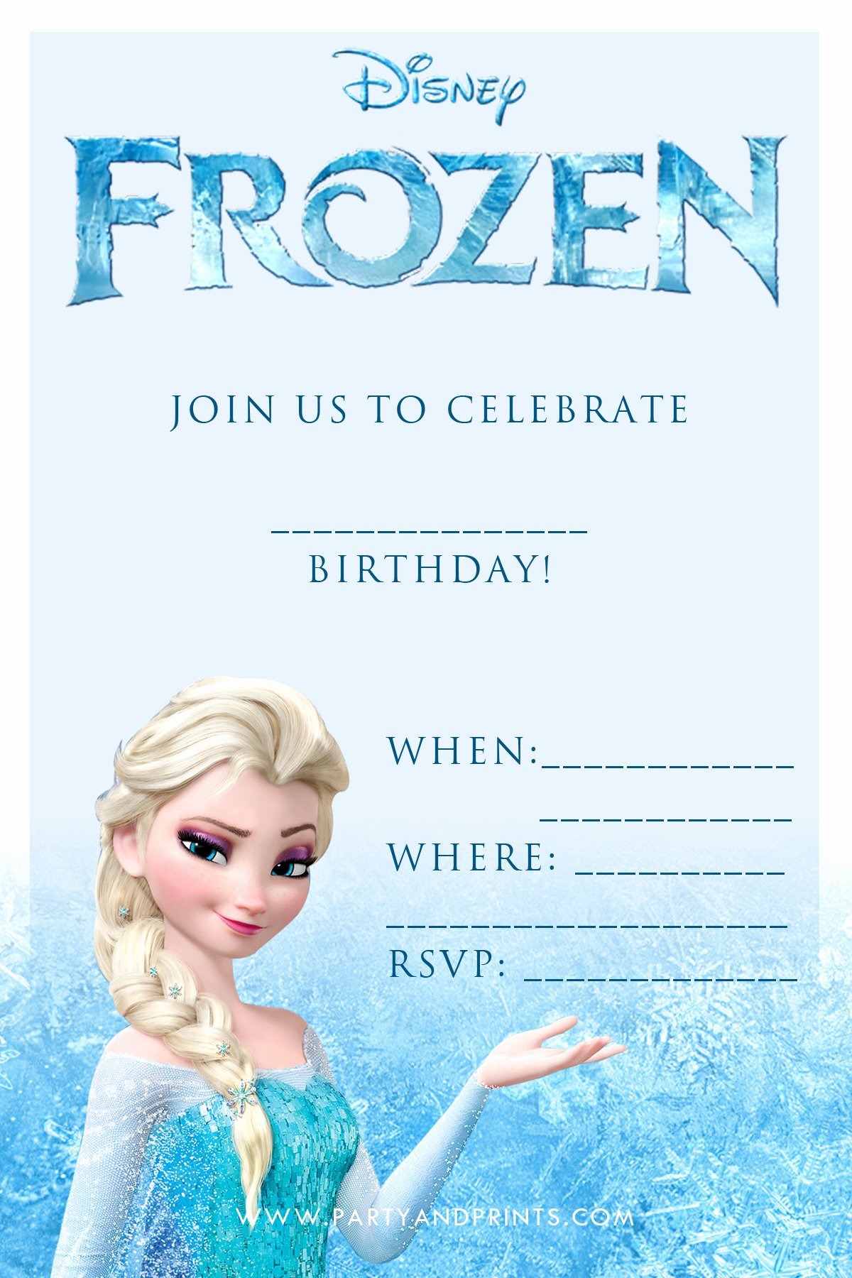 Frozen Birthday Party Invitations Best Of 20 Frozen Birthday Party Ideas