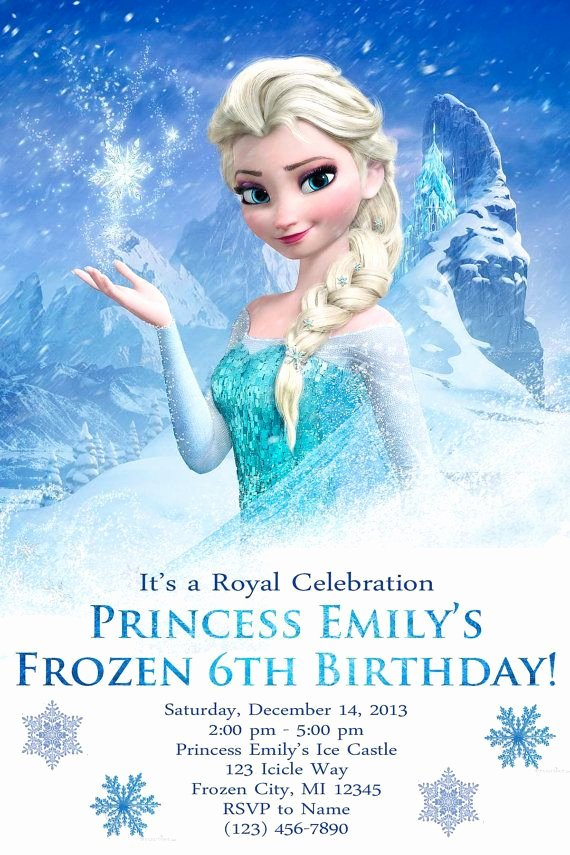Frozen Birthday Party Invitations Best Of Customized Frozen Birthday Party Invite Digital File