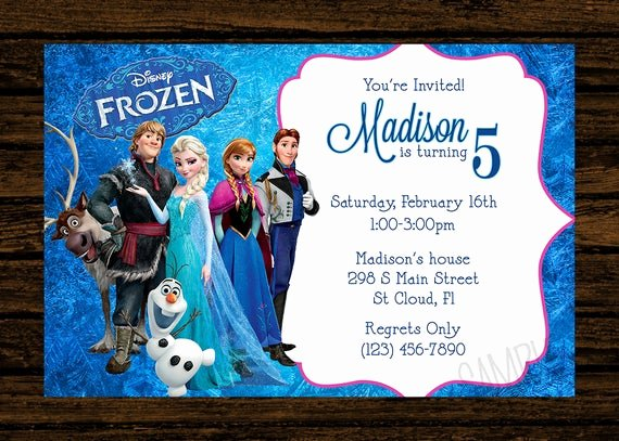 Frozen Birthday Party Invitations Fresh Custom Frozen Birthday Party Invitations Diy Printable File