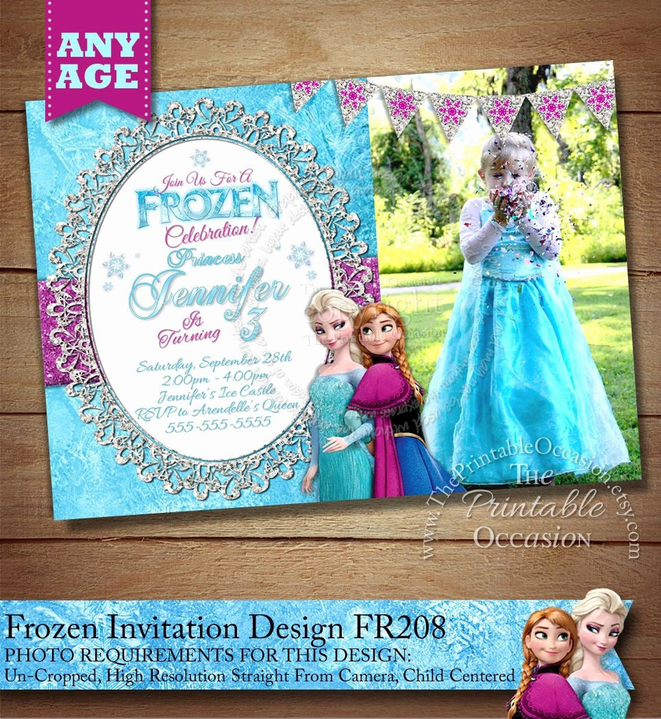 Frozen Birthday Party Invitations Fresh Frozen Birthday Invitation Frozen Birthday Party Frozen