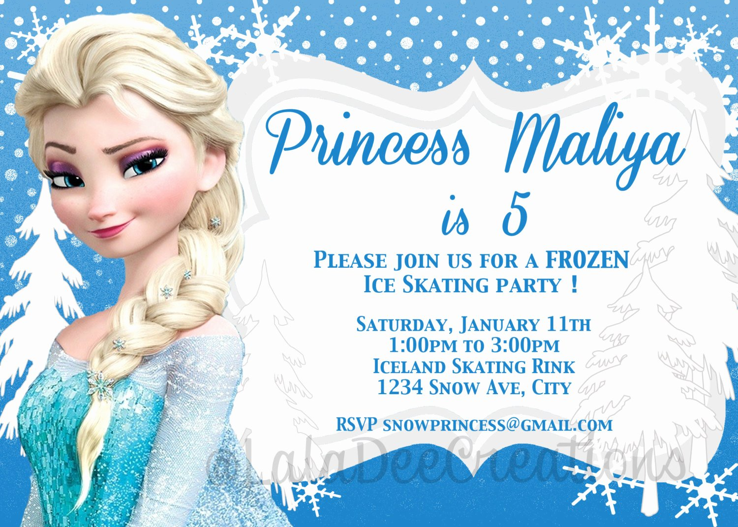 Frozen Birthday Party Invitations Inspirational Frozen Birthday Invitation Printable Digital by Laladeecreations