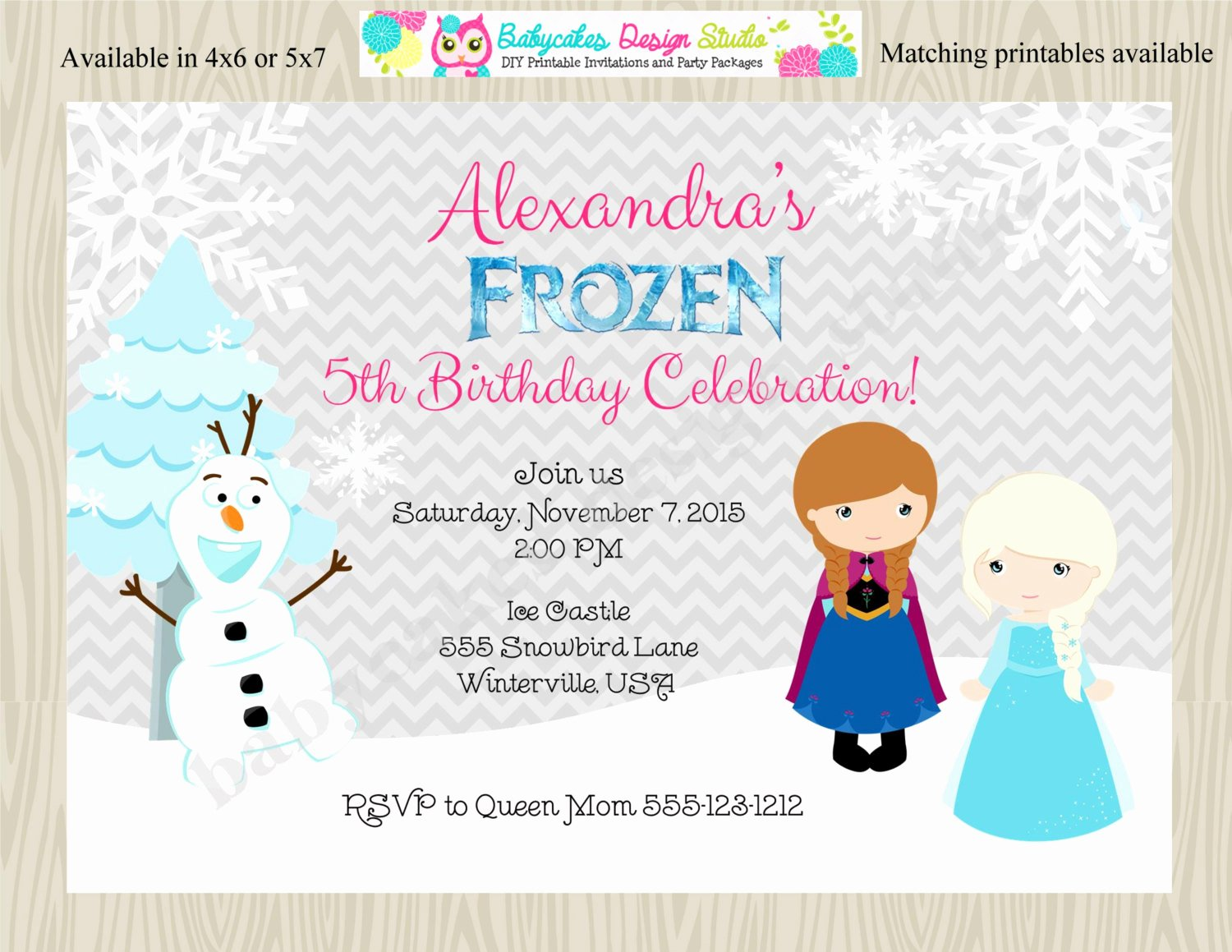 Frozen Birthday Party Invitations Inspirational Frozen Birthday Party Invitation Invite Anna Elsa Ice