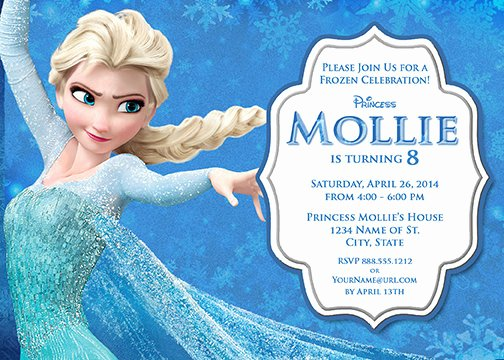 Frozen Birthday Party Invitations Lovely Elsa Frozen Birthday Party Invitation Ideas – Free Printable Birthday Invitation Templates