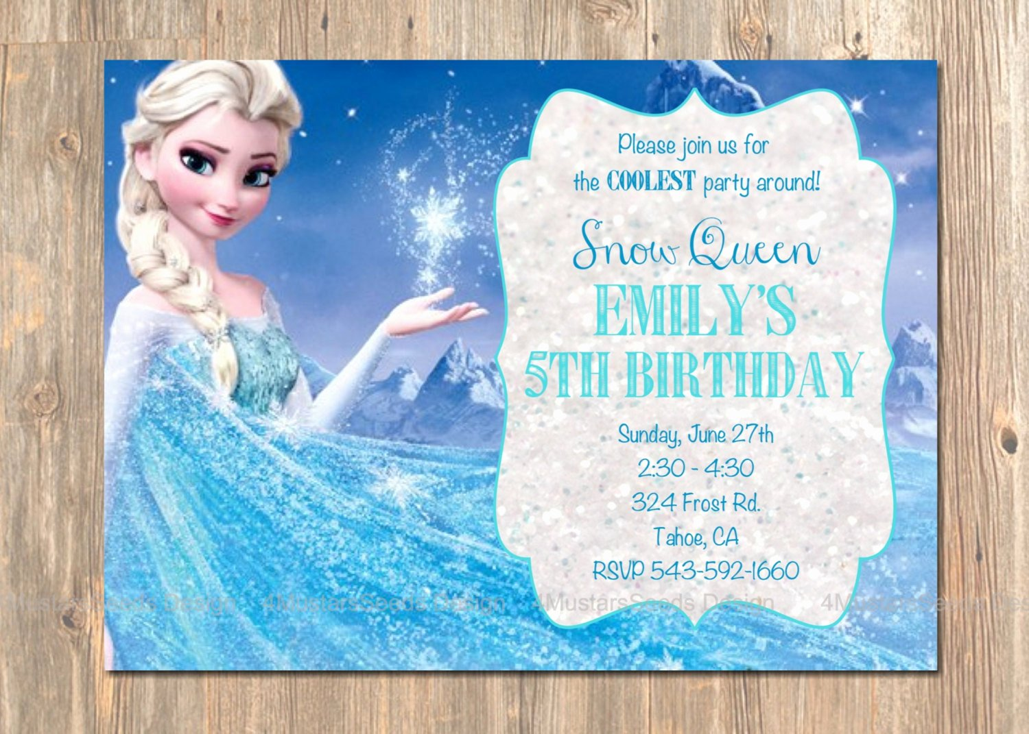 Frozen Birthday Party Invitations Lovely Frozen Birthday Invitation Elsa Frozen Invitation Printable
