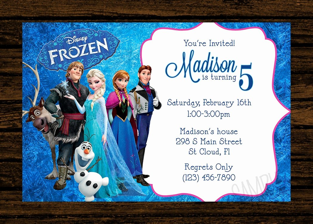 Frozen Birthday Party Invitations New Custom Frozen Birthday Party Invitations Diy Printable File