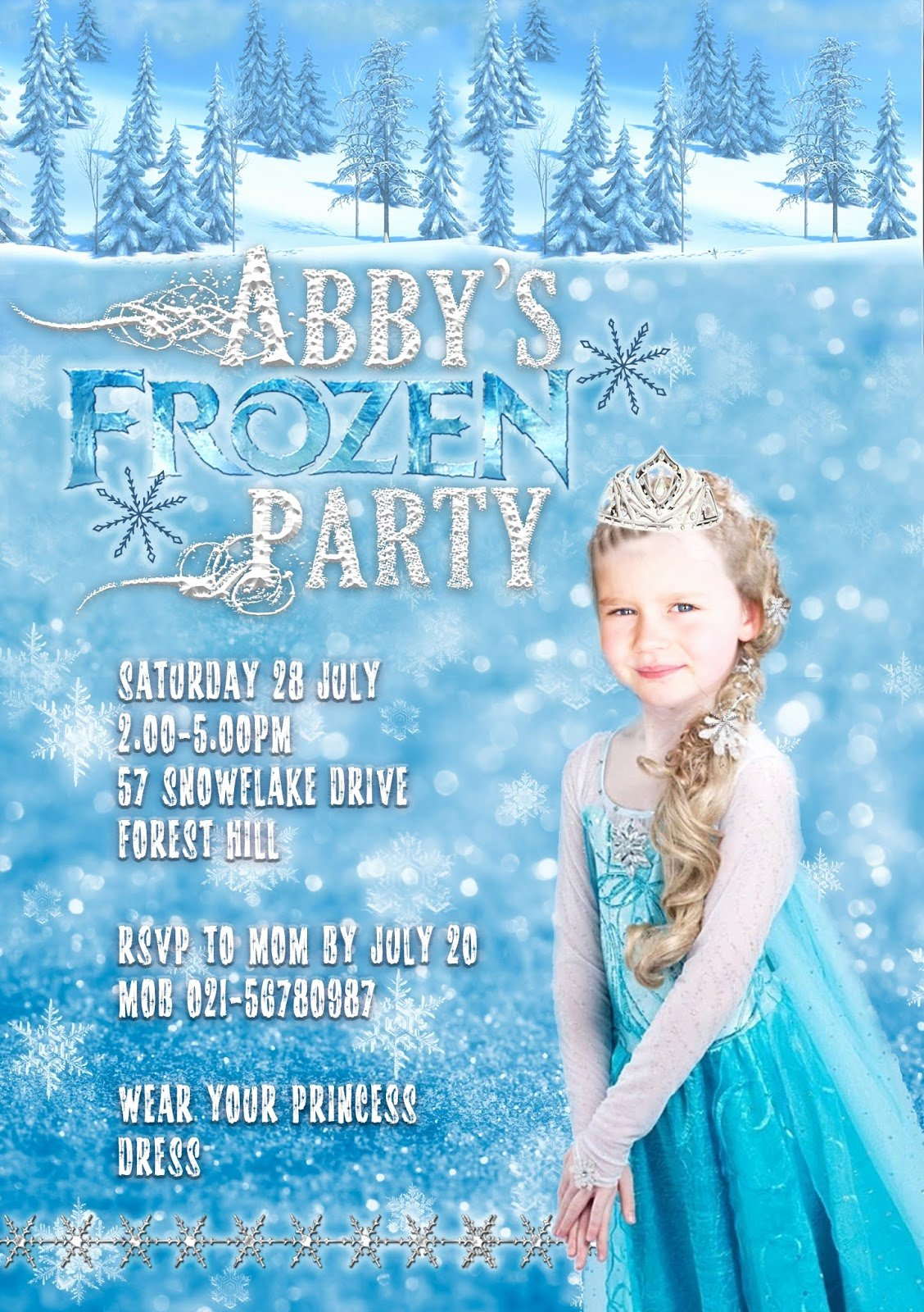 Frozen Birthday Party Invitations Unique Great Fun Etc A Bit Of Shameless Self Promotion My Etsy Shop