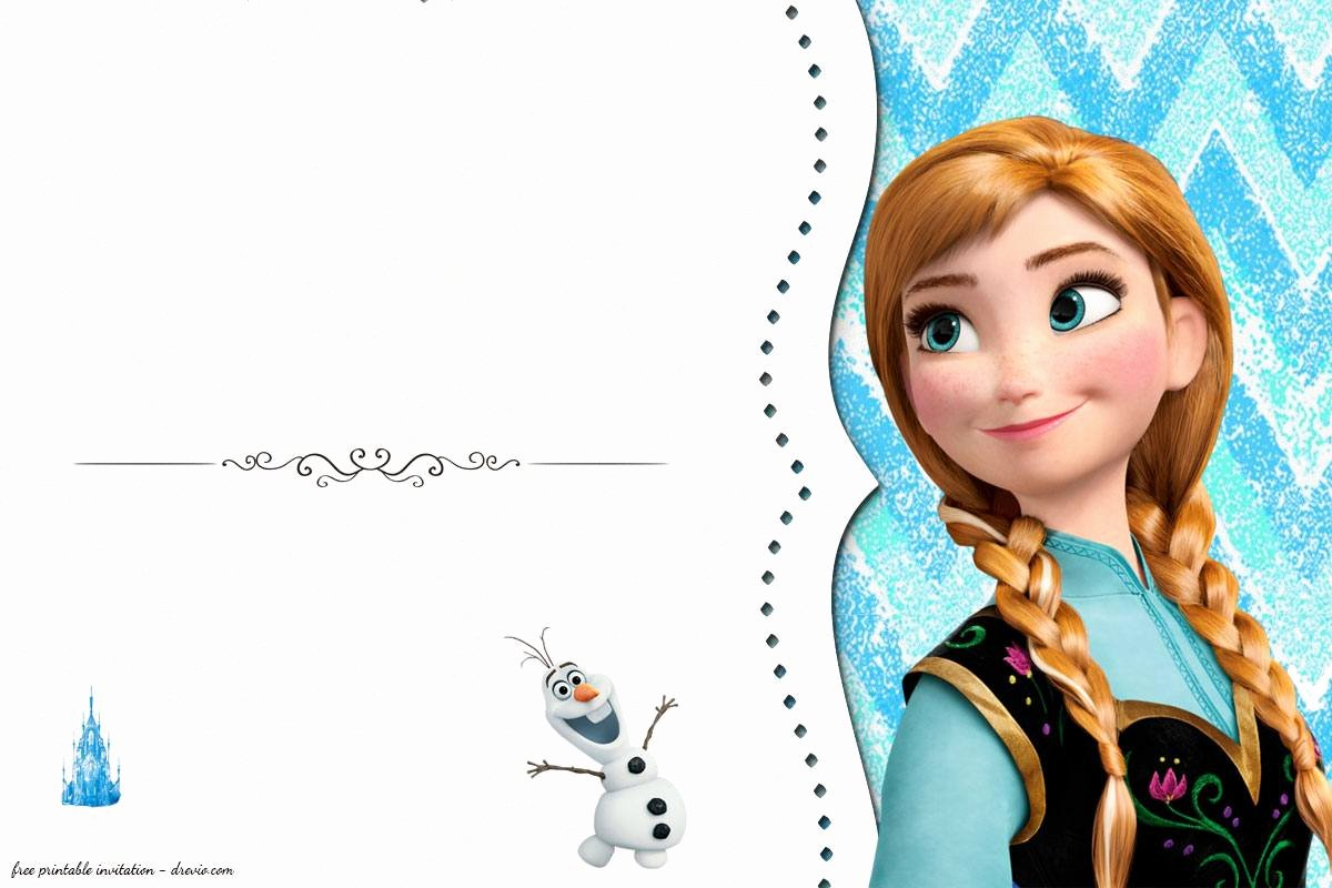 Frozen Invitation Template Free Download Beautiful Free Frozen Birthday Invitation Templates Free