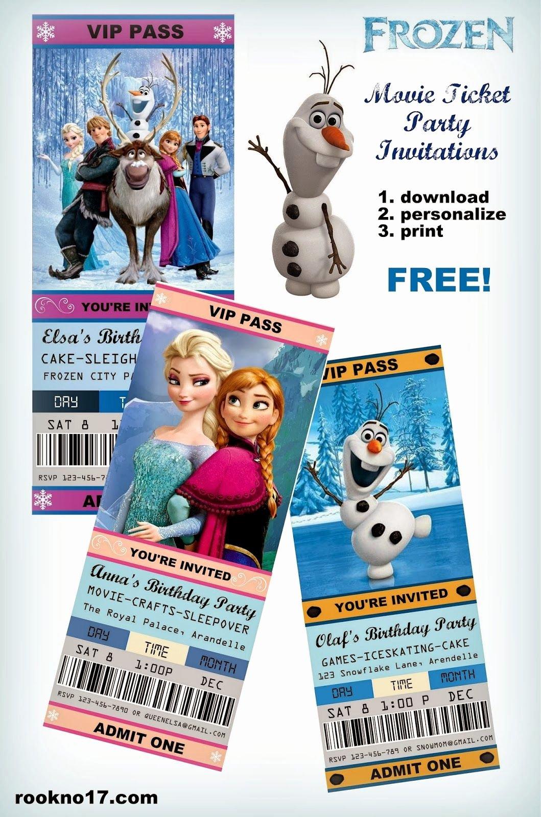 Frozen Invitation Template Free Download Beautiful Free Frozen Invitations On Pinterest