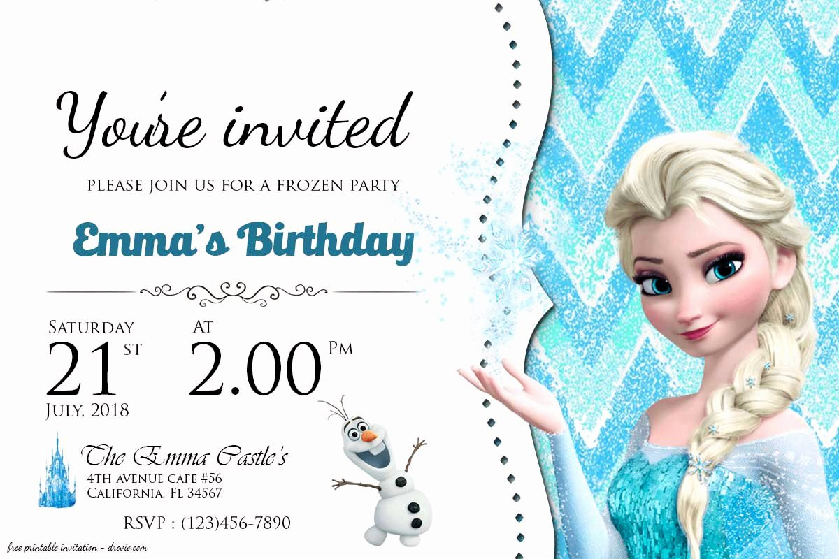 Frozen Invitation Template Free Download Best Of Free Frozen Birthday Invitation Templates Free