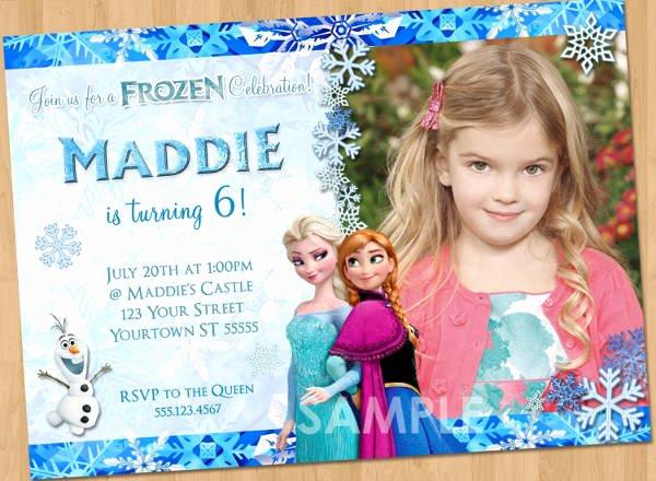 Frozen Invitation Template Free Download Elegant 13 Frozen Invitation Templates Word Psd Ai
